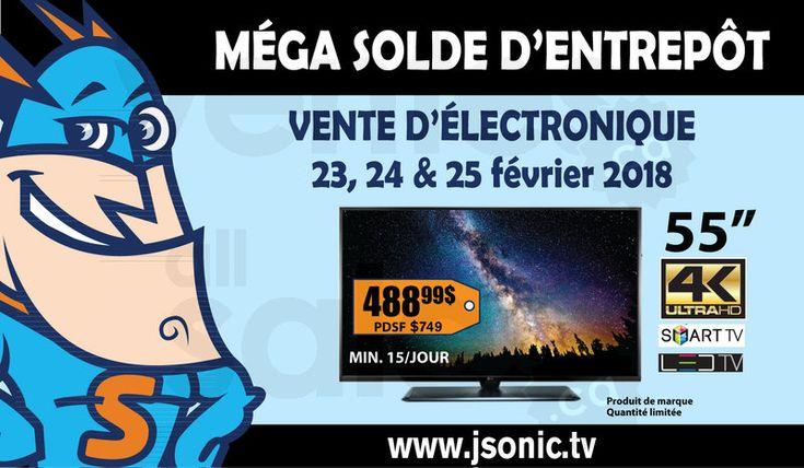Vente d'entrepôt d'électronique J.Sonic | lesventes.ca