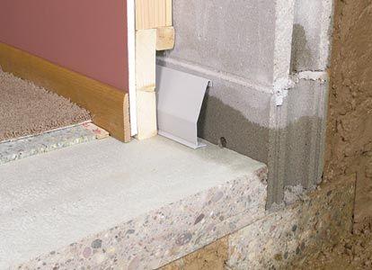 Elegant Basement Baseboard Waterproofing System