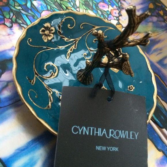 Cynthia Rowley Enameled Jewelry & Ring Holder NWT ...