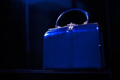 Vintage Blue Handbag - Borsa vintage blu