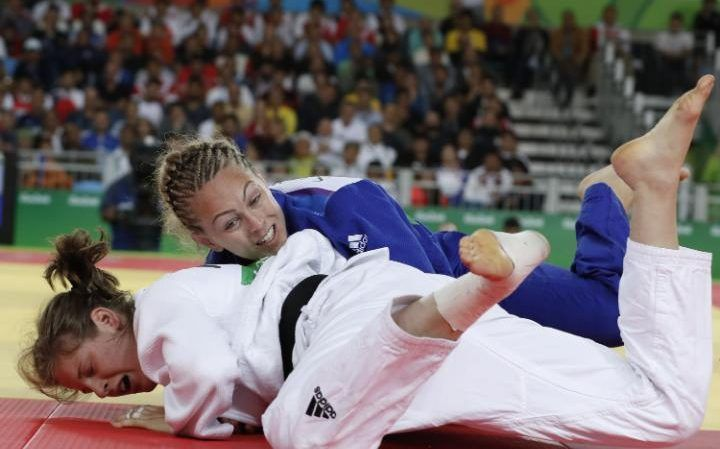 Judoka Sally Conway wins bronze in the women's 70kg judo contest after…