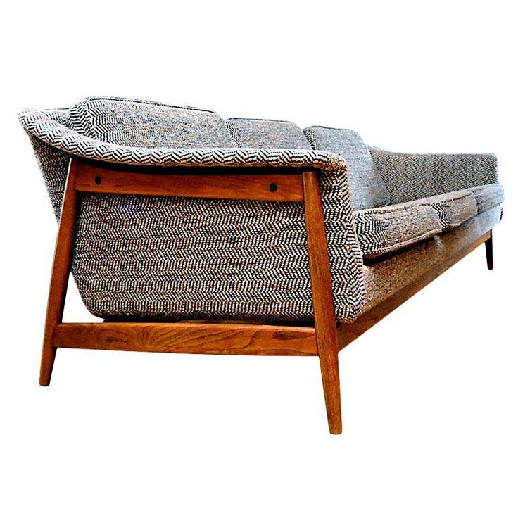 Dux Danish Modern Mid-Century Sofa | 1stdibs.com