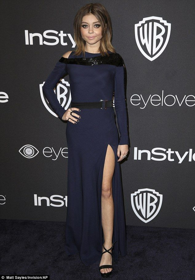 Busy night! Modern Family actress Sarah Hyland had a packed schedule Sunday night, attending two different Golden Globes after parties