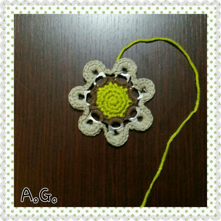Fiorellino - flower. Crochet flower.