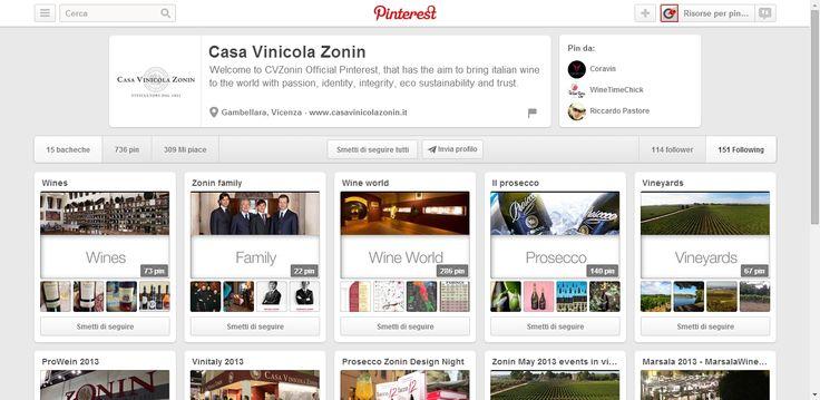Casa Vinicola Zonin Profile on Pinterest; Itallian Wines