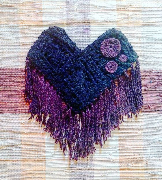 Butterfly loom poncho