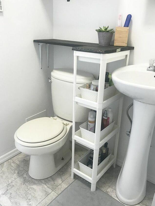 Diy Space Saving Solution For Your Bathroom With No Counter Space Small Bathroom Diy Space Saving Bathroom Design