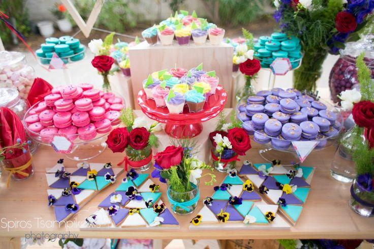 girl #baptism #decoration #candytable #springtheme #destinationeventplanners #Rhodes #Greece #goldenappleweddings