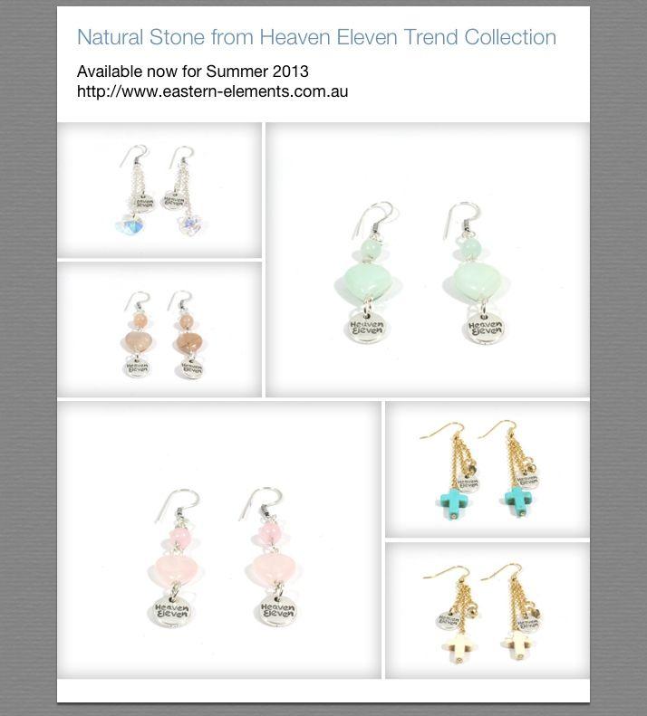 Top Selling Earrings from Eastern Elements Heaven Eleven range. Available from eastern-elements.com.su
