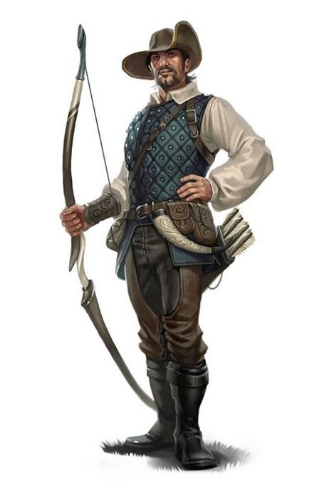 character concept Human Fighter male ranger Longbow