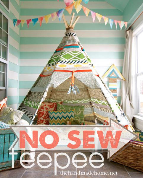 this is amazing! Brody's Christmas?  Birthday #3? Reading nook in his room or future playroom?! how_to_make_a_teepee