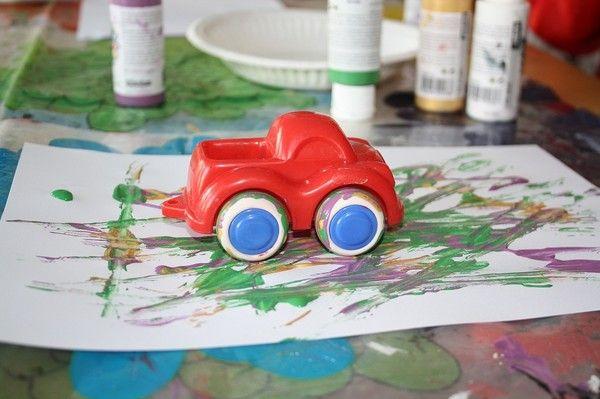Måla med bilar