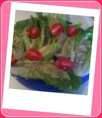 No gluten! Yes vegan!: Antipasto di insalata romana con salsa di olive, b...
