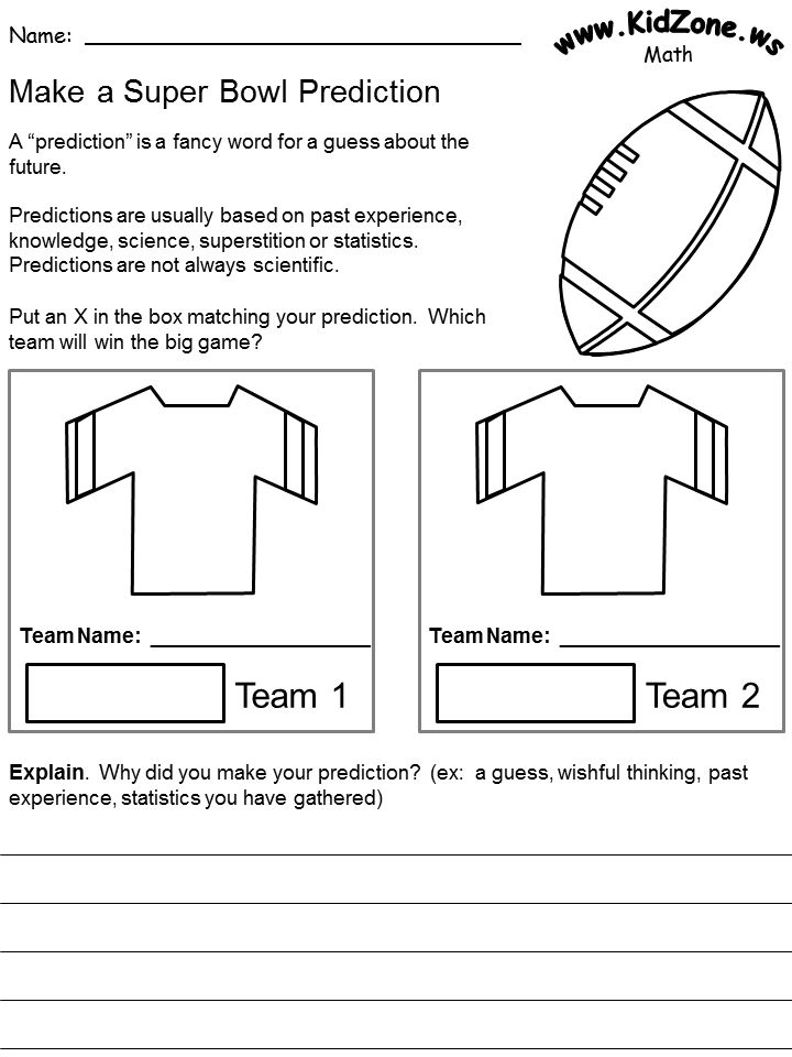 *FREE* Super Bowl Graphing Worksheets