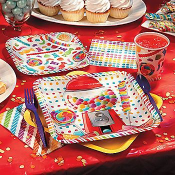 Lollipop Lane Party Supplies this so would have been great for my daughters candy themed party.
