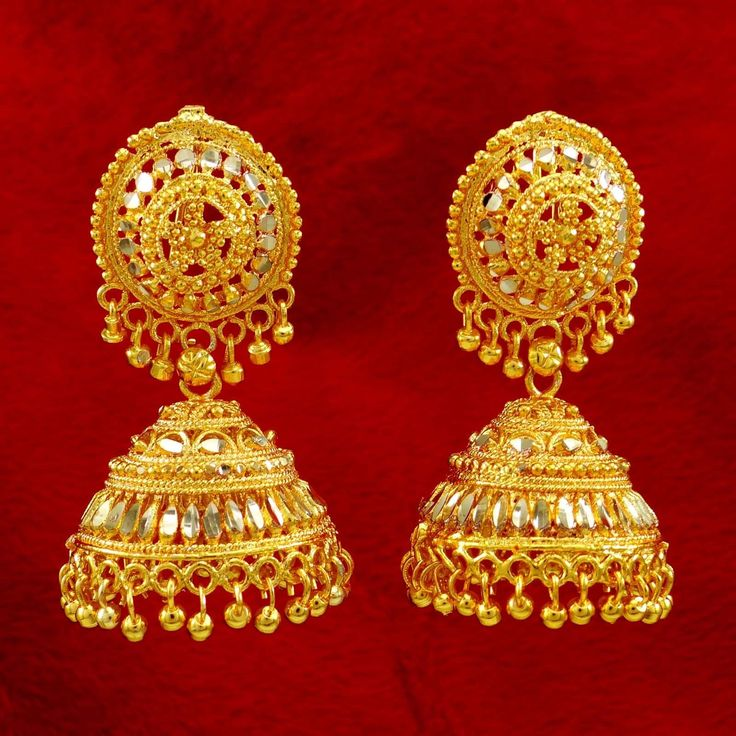 Gold Plated Pretty Design #Earrings
