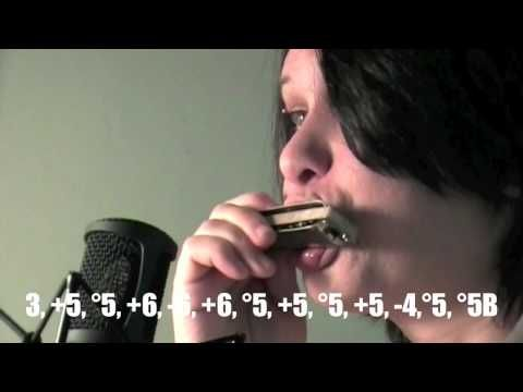 """How to Play """"Yesterday"""" by the Beatles in crossharp, close up embouchure..."""