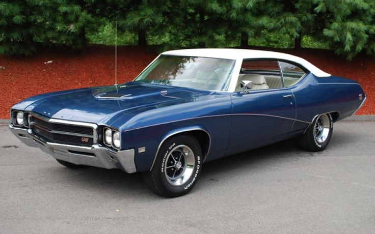 1970 Buick GS...This was  basically my first car except mine was a Skylark... Same color and every thing, just not as pretty...