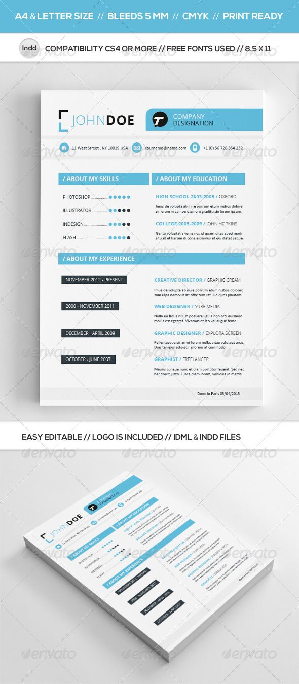 Clean Resume Template  Cleanses Fonts And Icons
