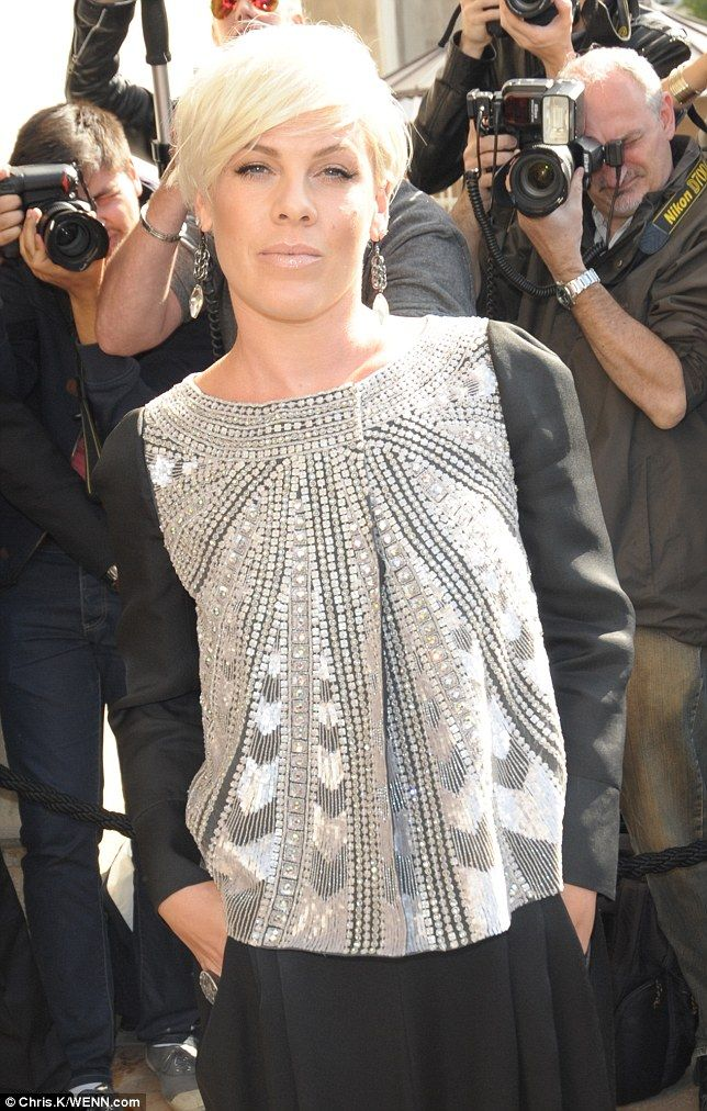 Who Knew: Singer Pink eschewed the colour of her namesake and dressed in a sequin embellis...