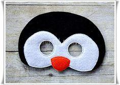 Máscara pingüino árticos máscaras de por TheMaskedMenagerie en Etsy