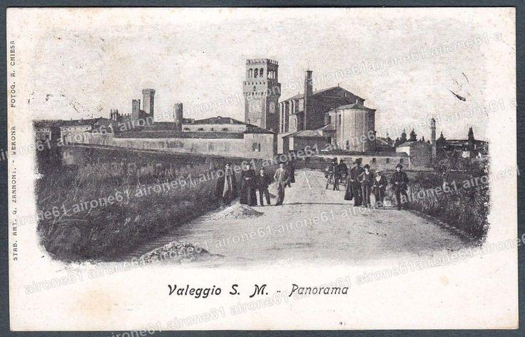 VERONA VALEGGIO SUL MINCIO 12 Cartolina viaggiata 1902