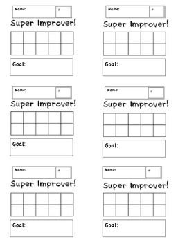 Whole Brain Teaching: Super Improvers Student Cards