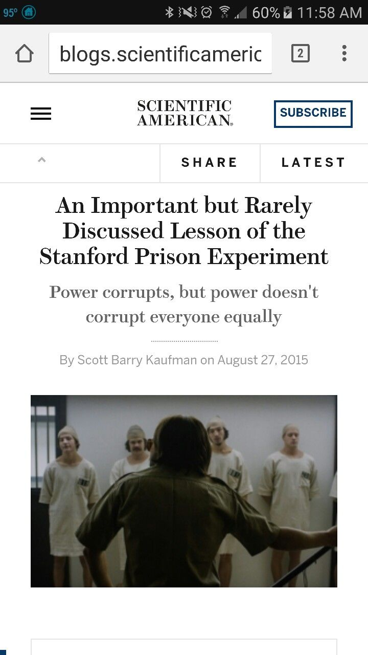 I recently watched the movie adaptation of the Stanford Prison Experiment. Like most reviewers, I found it harrowing. But as a psychologist, I also found it revealing. With my eyes glued to the screen in rapt attention, heart racing, I became obsessed with understanding what really was going on, and the lessons we can glean from such an experiment gone so horribly wrong.