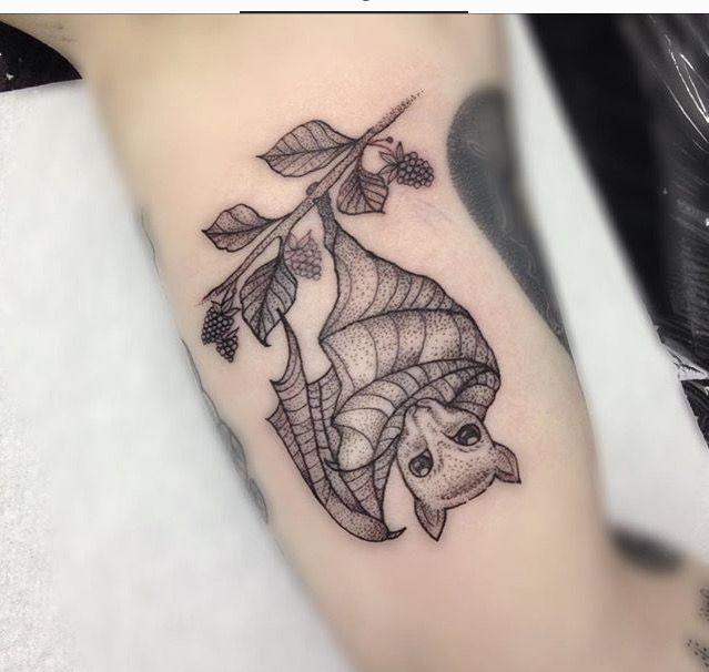 Fruit Bat Tattoo by Medusa Lou Tattoo Artist - medusaloux@outlook.com