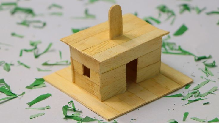 How to Make Popsicle Stick Dog House - Wooden Dog House at Home