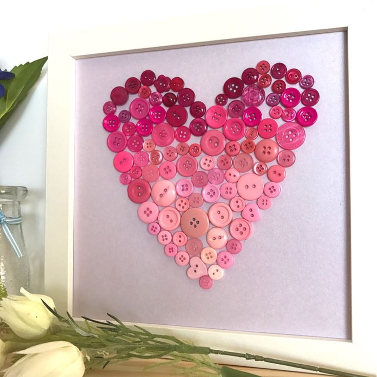 This delicate pink and purple beauty has just been listed in my shop. Go check it out now! I just love the ombré pink buttons of the love heart ❤️  & I hope you do too.