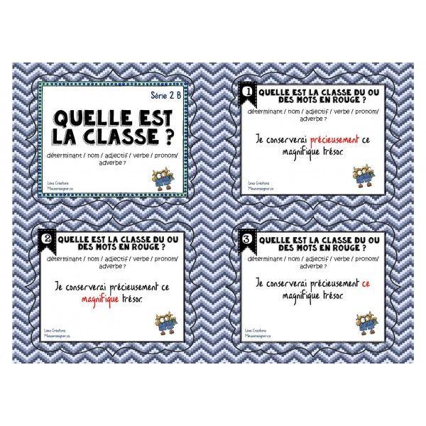 Cartes à tâches: Quelle est la classe Série 2B