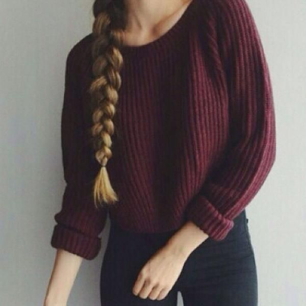 Women Long Sleeve Loose Pullovers Knitted Sweaters Jumper Knitwear Outerwear Thin Autumn Style Women Sweaters Red
