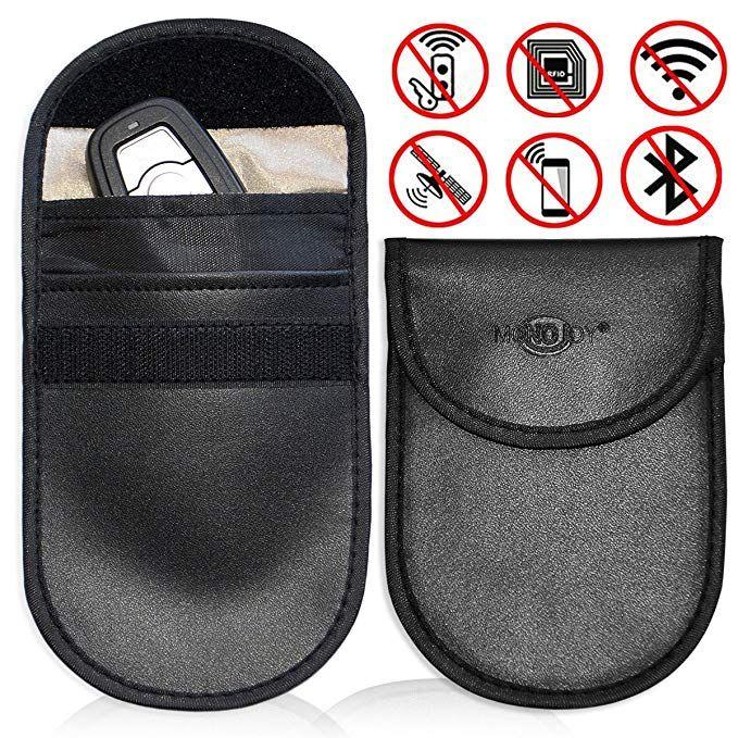 2 Pack Car Keyless Signal Blocker Faraday Cage,RF Signal Shielding Pouch Bag for Car Key FOB,Antitheft Lock Devices,Fob Protector WiFi//GSM//LTE//NFC//RF Blocker ZATAYE Car Key Fob Signal Blocking Pouch Bag