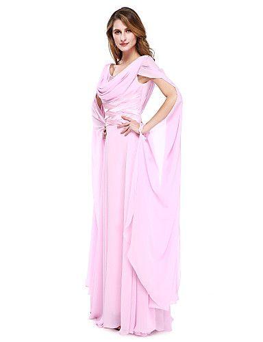 Balowa Sukienka dla matki panny młodej Sięgająca podłoża Szyfon - Koraliki 4814611 2017 – €97.99