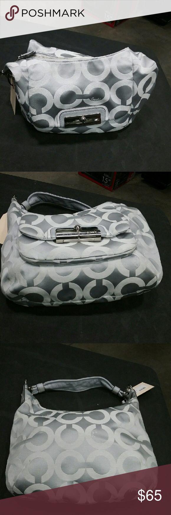Coach silver shoulder bag Shoulder bag  Silver  Coach Coach Bags Shoulder Bags