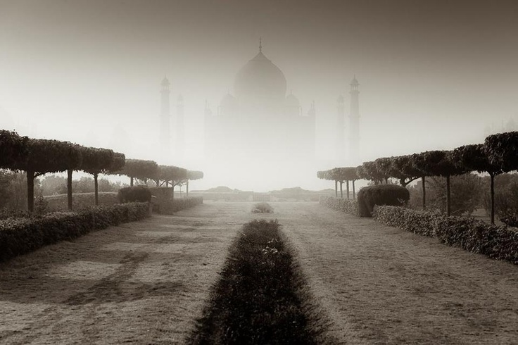 The Taj Mahal, #Agra, Uttar Pradesh, #India    (Pin, Share & Like with The Tour Planners)    Woke up early morning to catch the mist rising over Agra..    © Photo and caption by Tomasz Wagner, National Geographic Photo Contest 2010