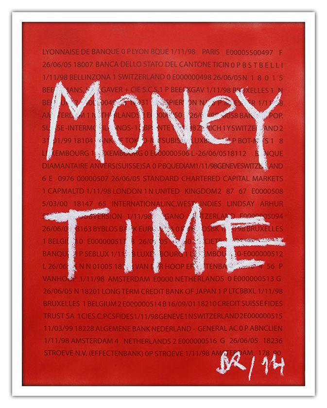 """Denis Robert - Red """"Money Time""""- 2014 #denisrobert #galeriew #art #artcontemporain #contemporaryart #artgallery #galerie"""