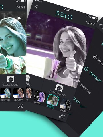 New version of #SOLO app is now on the appstore with new selfie filters for videos! Check it on your iPhone