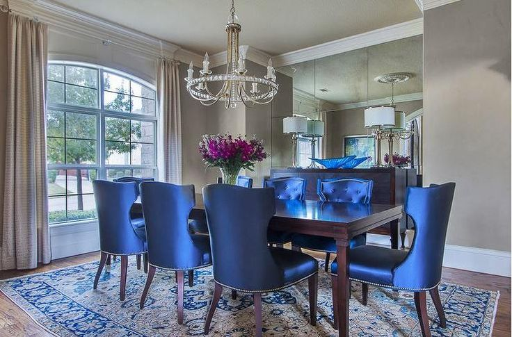 Navy Blue Dining Table: 1000+ Ideas About Dining Room Mirrors On Pinterest