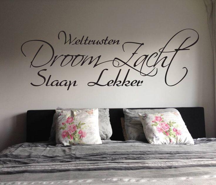 Muurtekststicker Droom zacht http://www.versierendoejezo.nl/muurtekststicker-droom-zacht.html