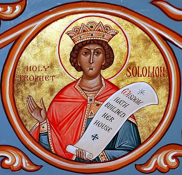 Greek Orthodox Icon Depicting King Solomon,