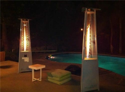 Great Use Of Lava Heat Italia Lite Z7 Heaters These Manually Controlled Outdoor Patio