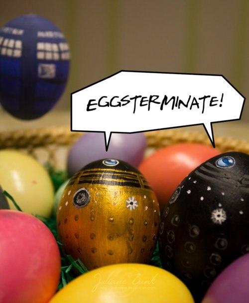 Easter Dalek Eggs! Eggsterminate. So gotta do this for easter!
