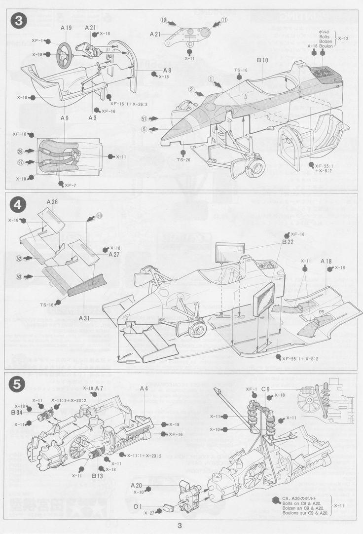 Pin by Gluefinger on Tamiya 1/20 Williams FW11 Drawing