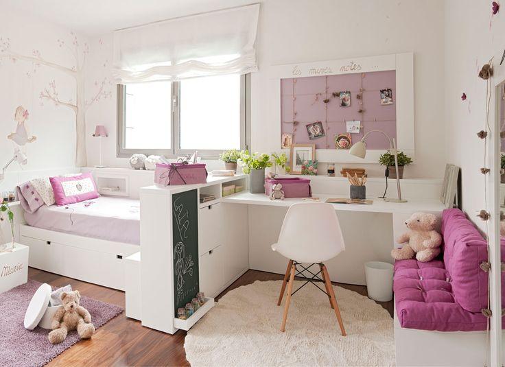 Dormitorio infantil decorao con tonos malvas 354439 o - Dormitorio malva ...