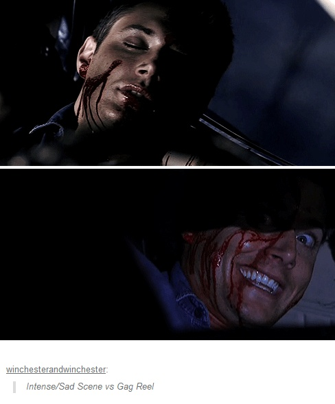 Dean vs Jensen <3 Such the actor. #Supernatural #JensenAckles