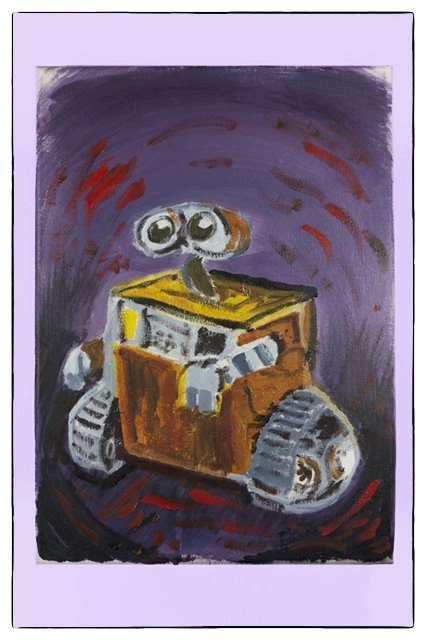WALLE oil painting canvas painting traditional art by JimmisArt, €50.00