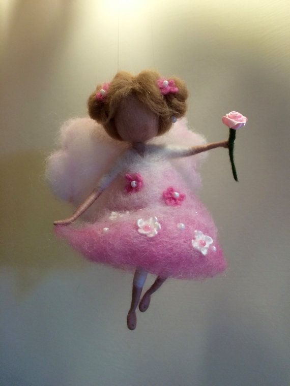 Nadel gefilzte Angel Waldorf inspirierte Wolle Fee von DreamsLab3