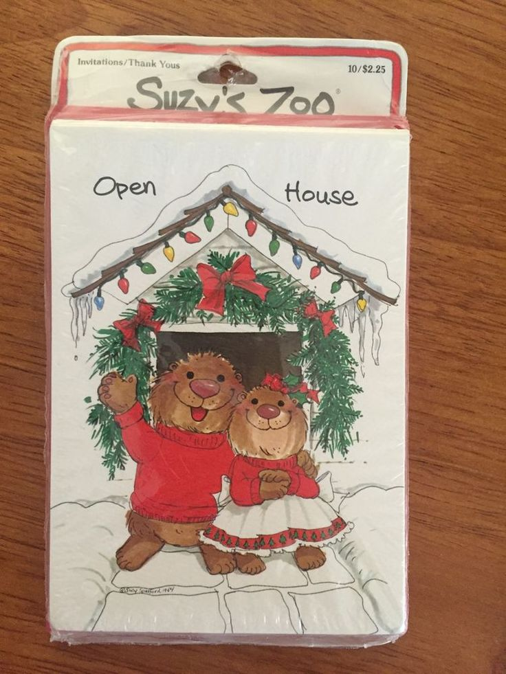 free ecard christmas party invitations%0A New Suzy u    s Zoo Holiday Christmas Party Open House Invitations    Pack  Sealed  SuzysZoo  Christmas